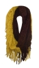Maroon and Gold Fringe Infinity Scarf by Zoozatz