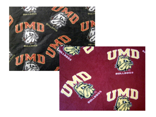 UMD Bulldog Head Fleece Fabric by Grandma Pants