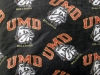 UMD Bulldog Head Fleece Fabric by Grandma Pants thumbnail
