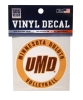 "3"" UMD Volleyball Circle Vinyl Decal by SDS"