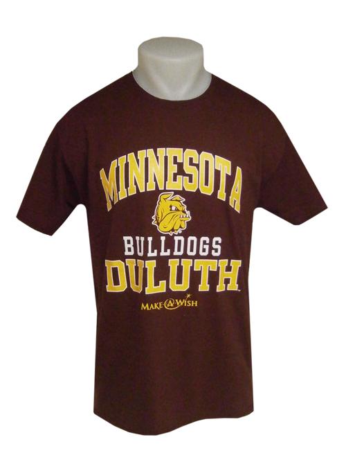 2017 Minnesota Duluth Bulldogs Make-A-Wish Tee by Jerzees