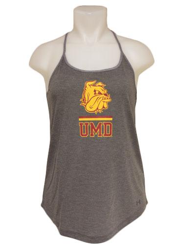 Women s UMD Bulldog Head Tank Top by Under Armour 4f4efdb12
