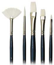 Image For Connoisseur White Nylon Long Handle Brush 5 Piece Set