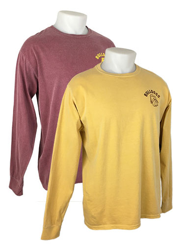 Image For Bulldogs Overdyed Long Sleeve Tee by Blue 84