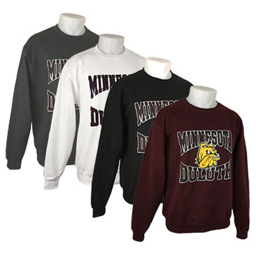 Image For Minnesota Duluth Bulldog Head Crew Sweatshirt by Champion