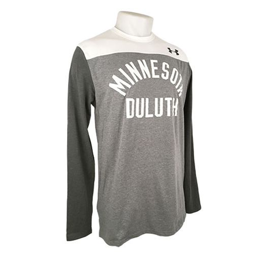 Image For Minnesota Duluth Grey Block Long Sleeve Tee by UA