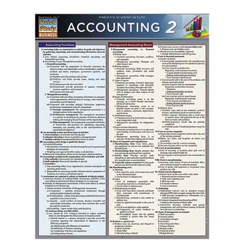 Image For Accounting 2 by BarCharts Inc.