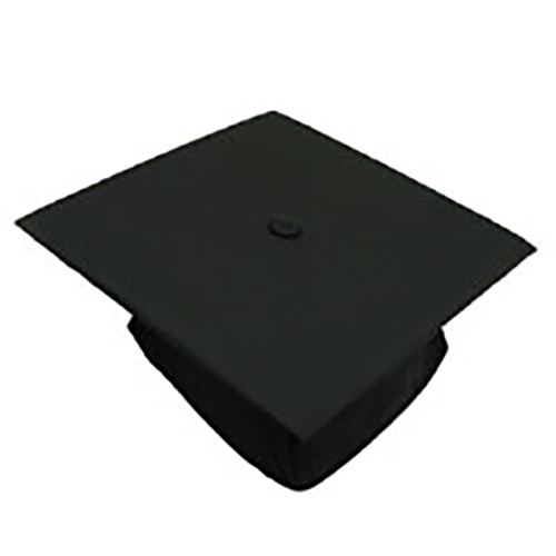 Image For Black Graduation Cap -- SIZE XL