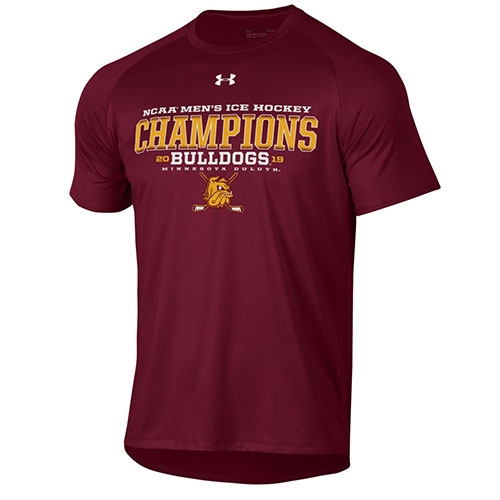 Image For NCAA Hockey Champions Bulldogs 2019 Tee by Under Armour