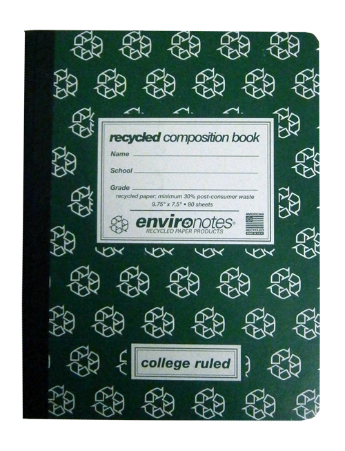 Image For Recycled College Ruled Composition Book by Environotes