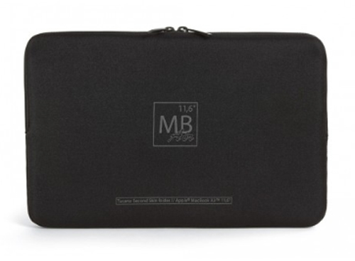 "Cover Image For 11"" Black Macbook Air Second Skin Elements Sleeve by Tucano"