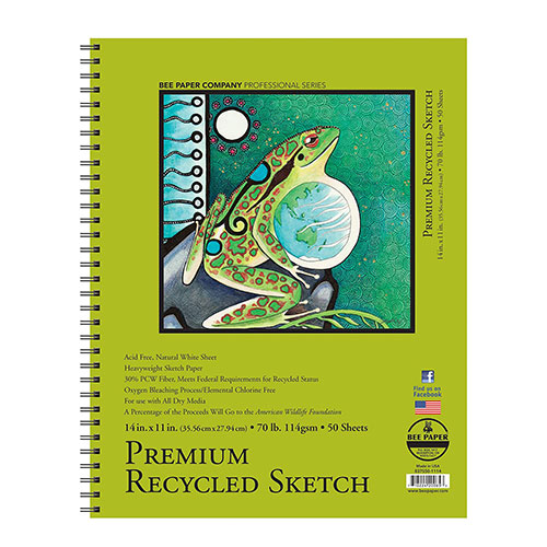 Image For Premium Recycled Sketchbook by Bee Paper Company 11x14