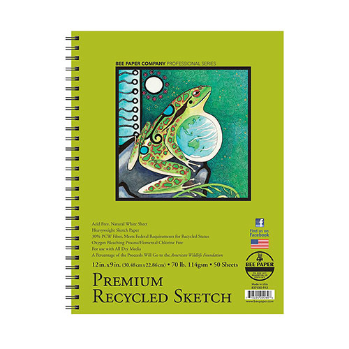 Cover Image For Bee Paper Company Premium Recycled Sketch Paper 12x9