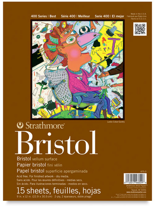 Image For Strathmore Bristol Pad 9x12