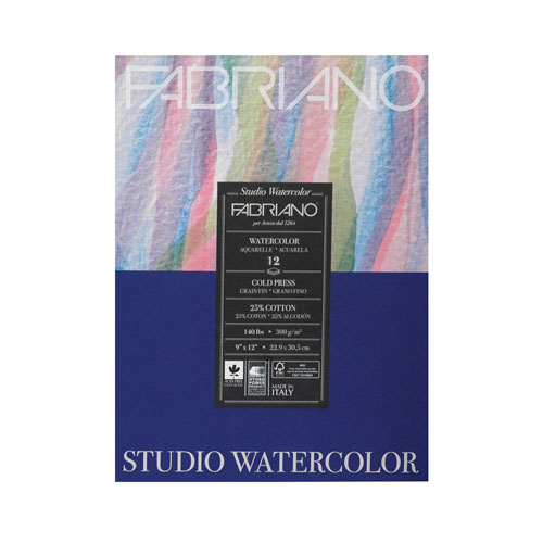 Image For Fabriano Studio Watercolor Pad 9x12