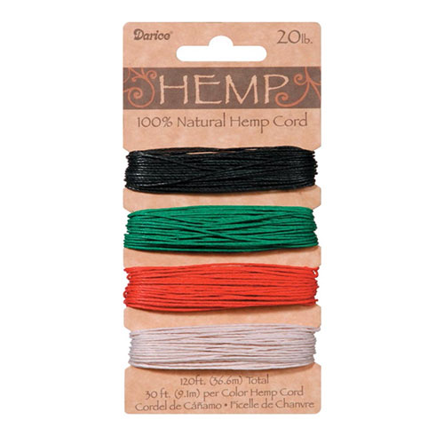 Image For Hemp Natural Jewelry Cord by Darice - Primary, 20lb.