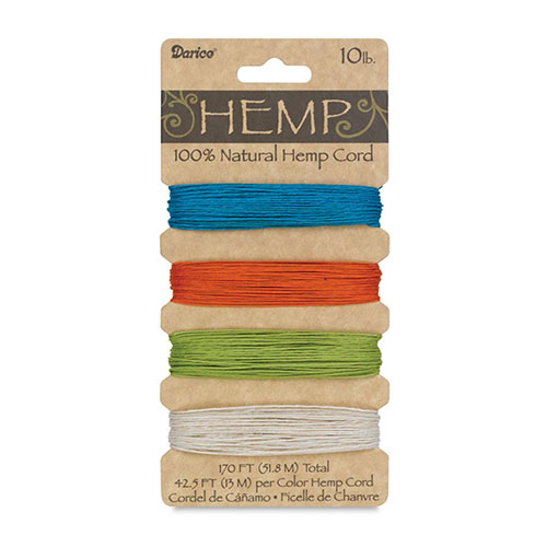 Cover Image For Hemp Natural Jewelry Cord by Darice - Brights, 10lb.