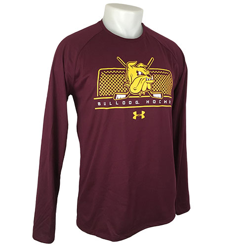 Cover Image For Bulldog Hockey Net Long Sleeve Tech Tee by Under Armour