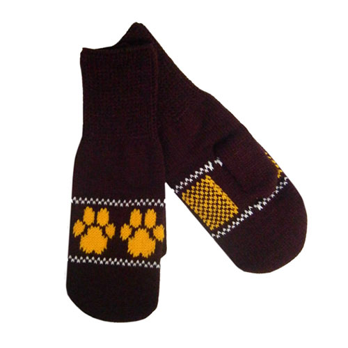 Image For Paw Print Mittens by Wear-A-Knit