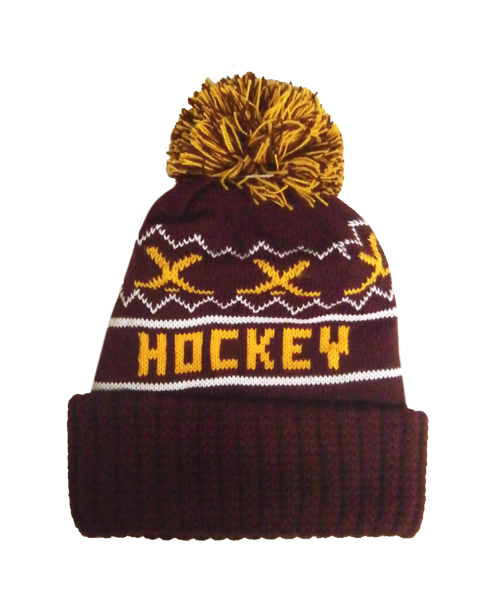 Image For Bulldog Hockey Pompom Hat by Wear-A-Knit *