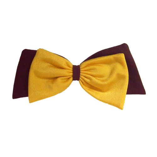 Image For Maroon and Gold Bow Clip by Pomchies