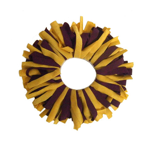 Image For Maroon and Gold Scrunchy by Pomchies