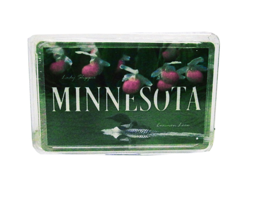 Image For Minnesota Lady Slipper Common Loon Playing Cards
