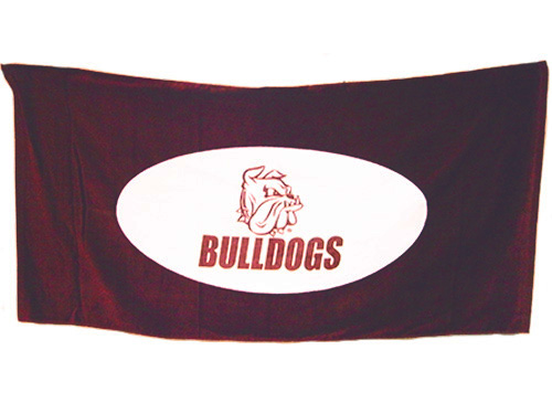 Image For Bulldogs Bulldog Head Beach Towel by Beach Duds