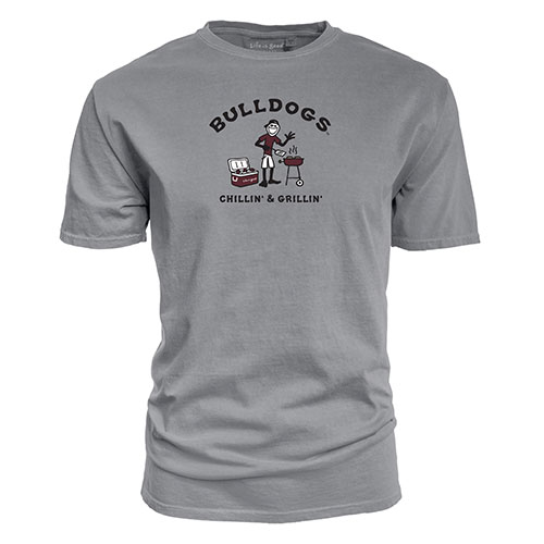 Cover Image For Bulldogs Life Is Good Chillin' and Grillin' Tee by Blue 84