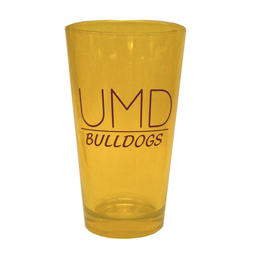 Image For UMD Bulldogs Gold Pint Glass