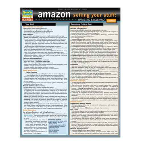 Image For Amazon - Selling Your Stuff by BarCharts, Inc.