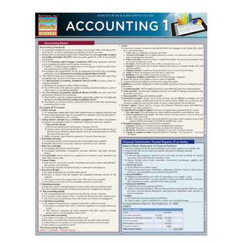 Image For Accounting 1 by BarCharts Inc.