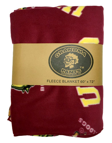 Image For UMD Bulldogs Fleece Throw Blanket by Grandma Pants - 60x72