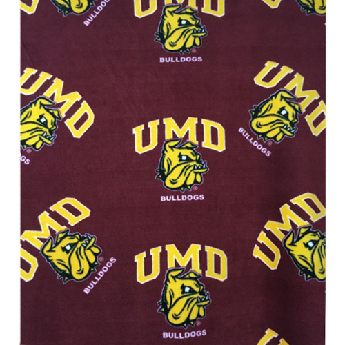 Cover Image For UMD Bulldog Head Fleece Fabric by Grandma Pants