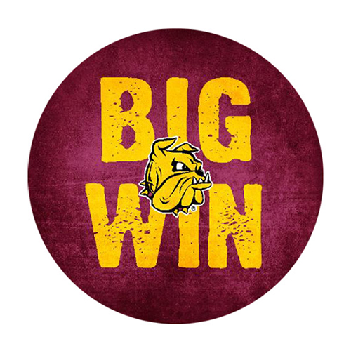 "Image For Big Win Bulldog Head Button 3"" by CDI Corp"