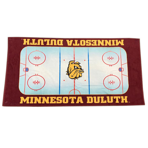 Cover Image For Minnesota Duluth Hockey Rink Beach Towel by WinCraft
