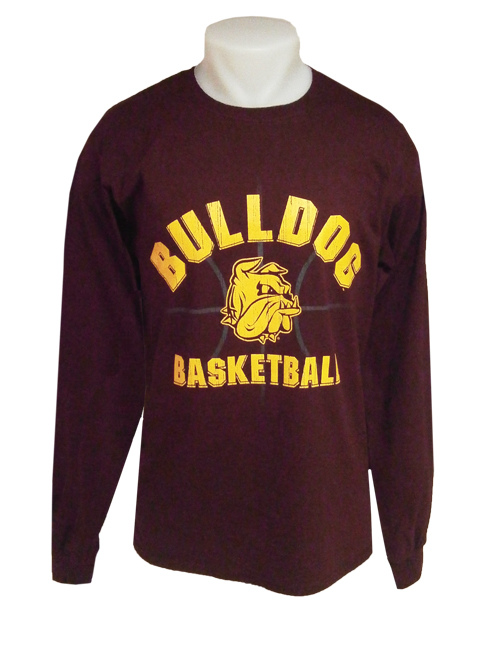 Image For Bulldog Basketball Long Sleeve Tee by Gear