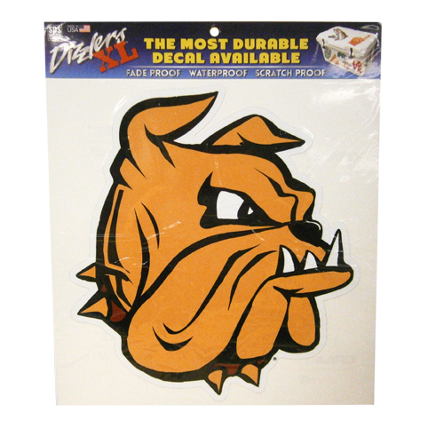 "Image For 12"" Bulldog Head Dizzlers XL Decal by SDS"