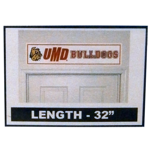 "Image For Bulldog Head UMD Bulldogs Over the Door Decal 32"" by SDS"