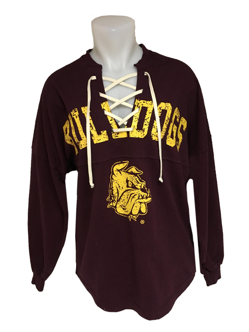Image For Women's Lace Up Bulldogs Long Sleeve by Spirit