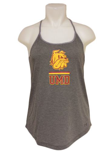Image For Women's UMD Bulldog Head Tank Top by Under Armour
