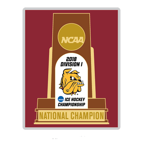 Image For NCAA *2018* Hockey Championship Trophy Pin by WinCraft