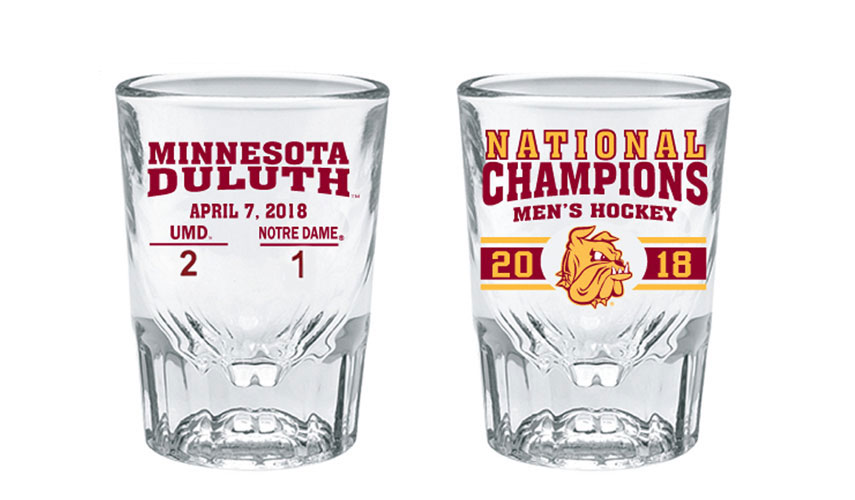 Image For NCAA 2018 Hockey Championship 2 oz. Shot Glass by RFSJ