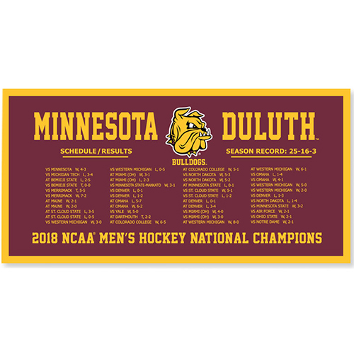 Image For NCAA *2018* Hockey Schedule Banner by Collegiate Pacific