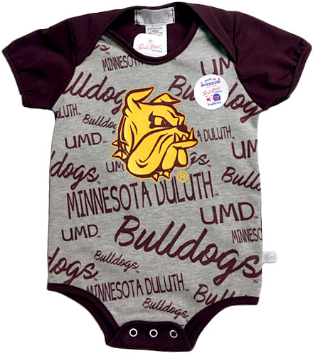 Image For Infant UMD Bulldog Head Onesie by Third Street