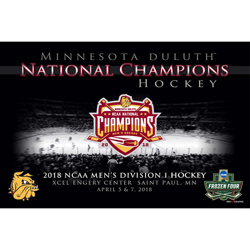 Image For 2018 Minnesota Duluth National Champions Hockey Poster 24x36