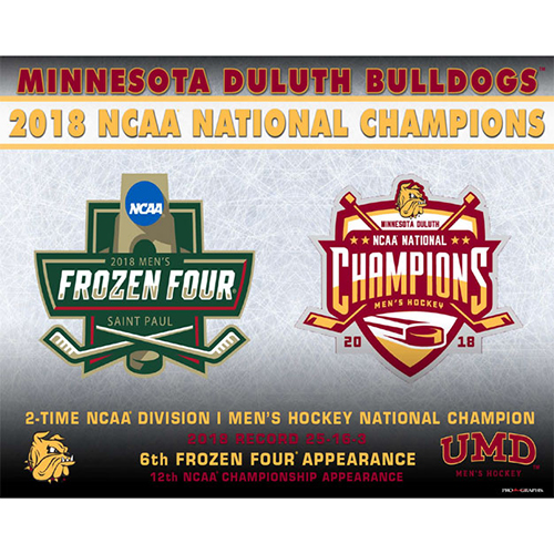 Image For 2018 Minnesota Duluth 2x NCAA National Champs Print 16x20