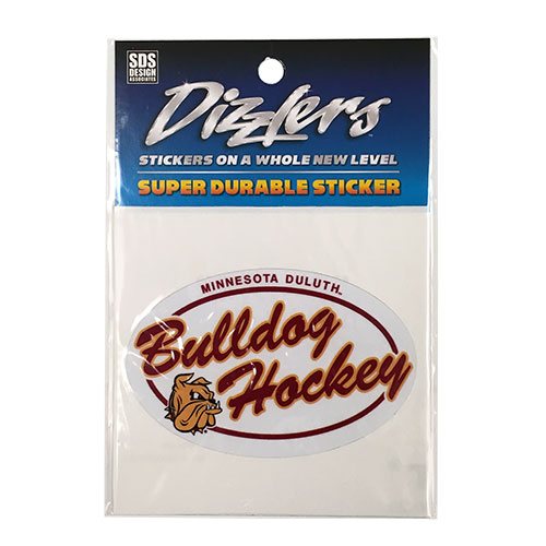 "Image For Bulldogs Hockey Oval Dizzlers Decal 3.5"" by SDS"