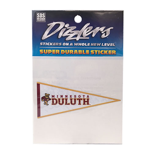 "Image For 3"" Minnesota Duluth Pennant Dizzlers Decal by SDS"