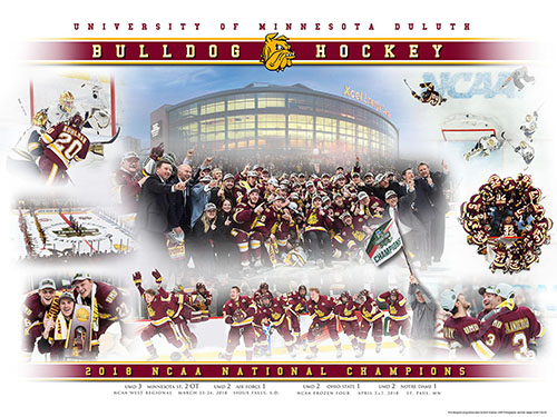 Image For 2018 UMD National Champions Hockey Print by Karl Jaeger